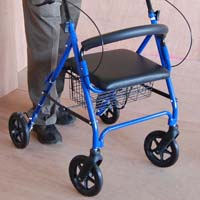 Rollator, Backrest, Brakes Physiotherapy Equipment