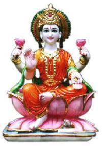 Mould Marble Laxmi Ji Sitting On Lotus