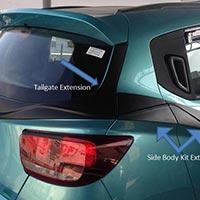 Tailgate Extension Kuv 100 Body Kit