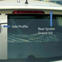 Grand I10 Rear Spoiler & Side Profile