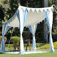 Shamiana Tents - Sky Blue Mirrors