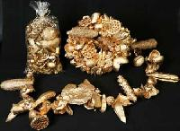 Gold Wreath Dried Flower - Om Impex India