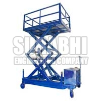 Trolley Mounted Scissor Lift - Surabhi Engineering Company