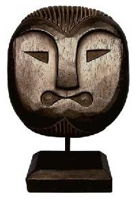 Wooden Mask Pedestal