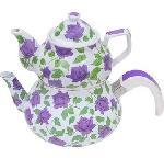 Zh0924e Enamel Teapot