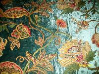 Big Flowers Crewel Curtain Fabric