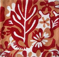 Chain Stitched Floral Cushion Cover 04