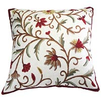Chain Stitch Crewel Cushion Covers