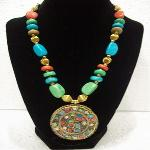 Sapphire Beaded Necklace Sp5 - A