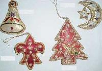 Hand Embroidered Christmas Ornaments 02