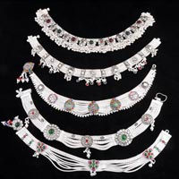 Heavy Silver Anklets