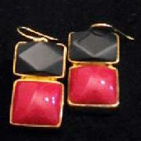 Semi Precious Stone Earrings (E-338)