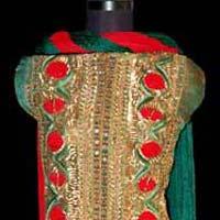Red Green Achkan Salwar Kameez