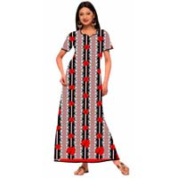 Ladies Cotton Nighty - Gaurav Fab