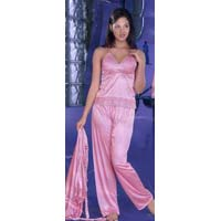 Satin Nighties: S-00014 - Vishnu Garments