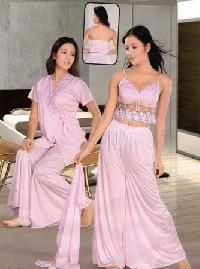 Satin Nighties: S-00015 - Vishnu Garments