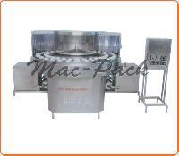 Semi Auto Rotary Bottle Washing Machine
