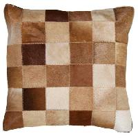 Leather Cushion Cover Natural Brown