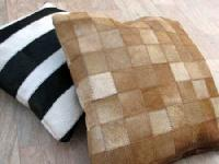 Leather Cushion Cover-Stripe & Blocks