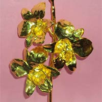 Gold Plated Orchid Flower