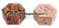 Carved Stone Boxes - 03