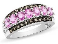 Pink Sapphire Diamond Ring