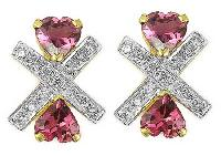 Tourmaline Diamond Earrings