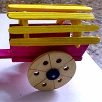 Handcrafted Wooden Bullock Cart