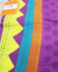 Indigo And Block Printed Fabric