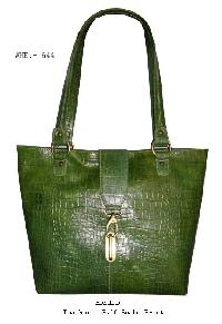 Ladies Green Leather Handbag