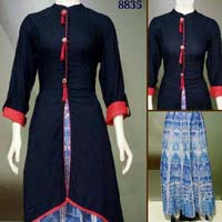 Salwar Kameez with Skirt
