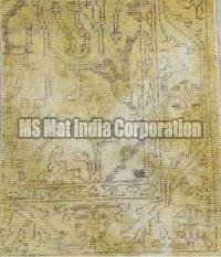 Gold Hand Knotted Woolen Carpet