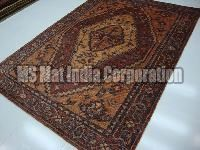 Brown Hand Knotted Woolen Carpet
