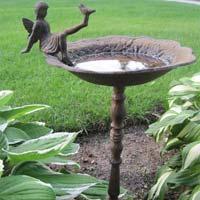 Metal Bird Bath