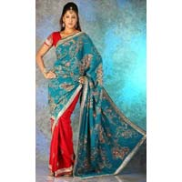 Crepe Wedding Saree