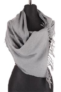 Gray boiled scarf