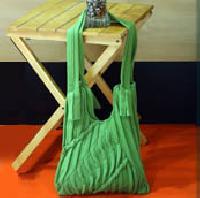 Green Tuck Designer Handbag