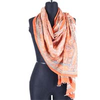 Saffron Silk Wool Scarf