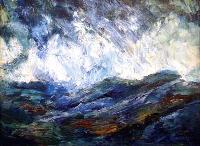 Blue Rocks Oil Painting