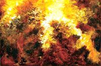 Rocks On Fire Oil Painting