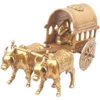 Aakrati Brass Bullock Cart For Decoration Purpose
