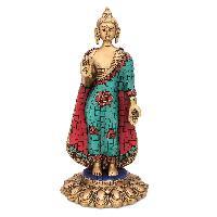 Aakrati- Lord Buddha Standing Statue with stone finish