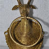 Brass Made Antique Look Deer Head Door Knocker Figure/towel..