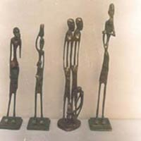 Brass Statue - Tribal Man