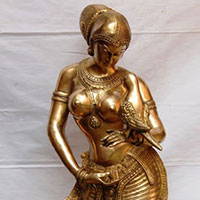 Dancing Lady Decorative Brass Metal Statue