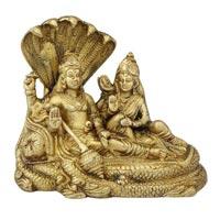 Laxmi Narayan On Sheshnag Brass Statue