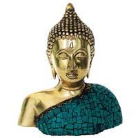 Lord Buddha Decorative Showpiece in Brass