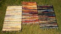 Cotton Rag Rugs, Cotton Rugs, Multicolor Warp Rugs