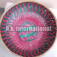 Flat Bamboo Basket