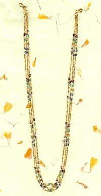 Multi Coloured Stone Gold Chain